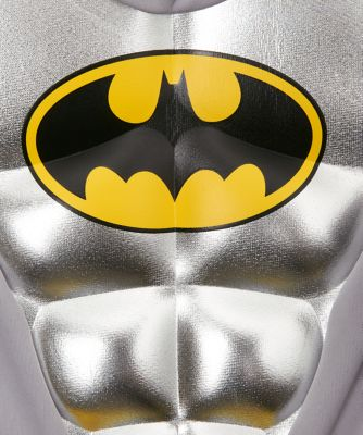 & Metallic Batman Costume 3-4 Years