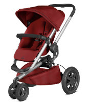Bundle: €799.95 Quinny Buzz Silver Frame Red Rumour + Foldable Carry Cot + Maxi-Cosi Cabriofix Baby Car Seat + Maxi-Cosi Easyfix Semi-Universal Isofix Base