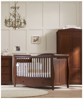 BUNDLE: €1099 Mothercare Bloomsbury Cotbed + Changing Unit - Walnut