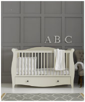 BUNDLE: €1099 Mothercare Bloomsbury Cotbed + Changing Unit  - Ivory