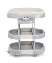 Aqua Baby Bath Dresser - Polka Grey
