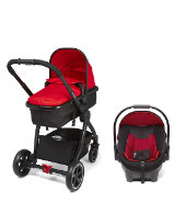 Mothercare Journey Black Travel System - Red