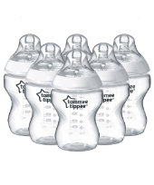 Tommee Tippee Closer to Nature Easivent 260ml Bottles - 6 Pack