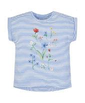 Квіткова футболка у смужку
