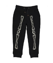 halloween glow-in-the-dark skeleton joggers