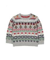 grey fair isle christmas jumper