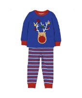 blue reindeer pyjamas