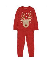 red reindeer polka dot pyjamas