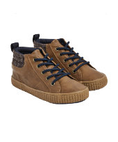 brown hi top shoes