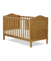 Bundle: Mothercare Darlington Cot Bed - Antique + Mothercare Mattress