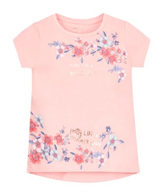 Front Floral Print Tee