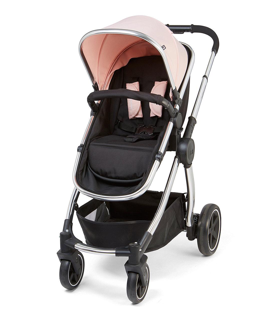 Mothercare 4 Wheel Journey Chrome Travel System Blush