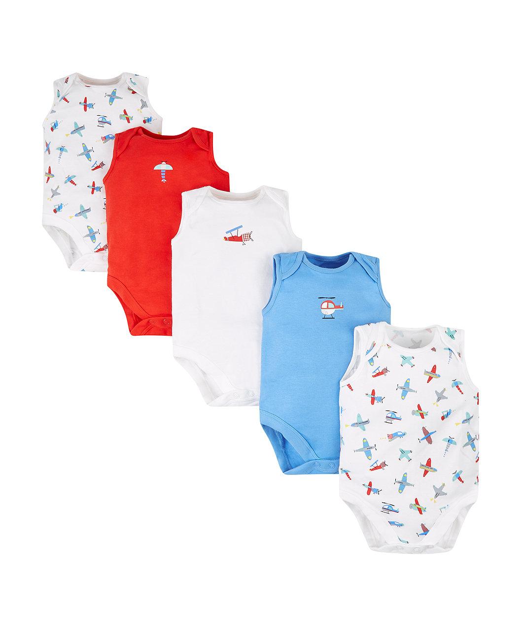Боді з літаками - 5 шт - Бодіки для немовлят - Одяг для немовлят 0 ... ac7dfe6b74858