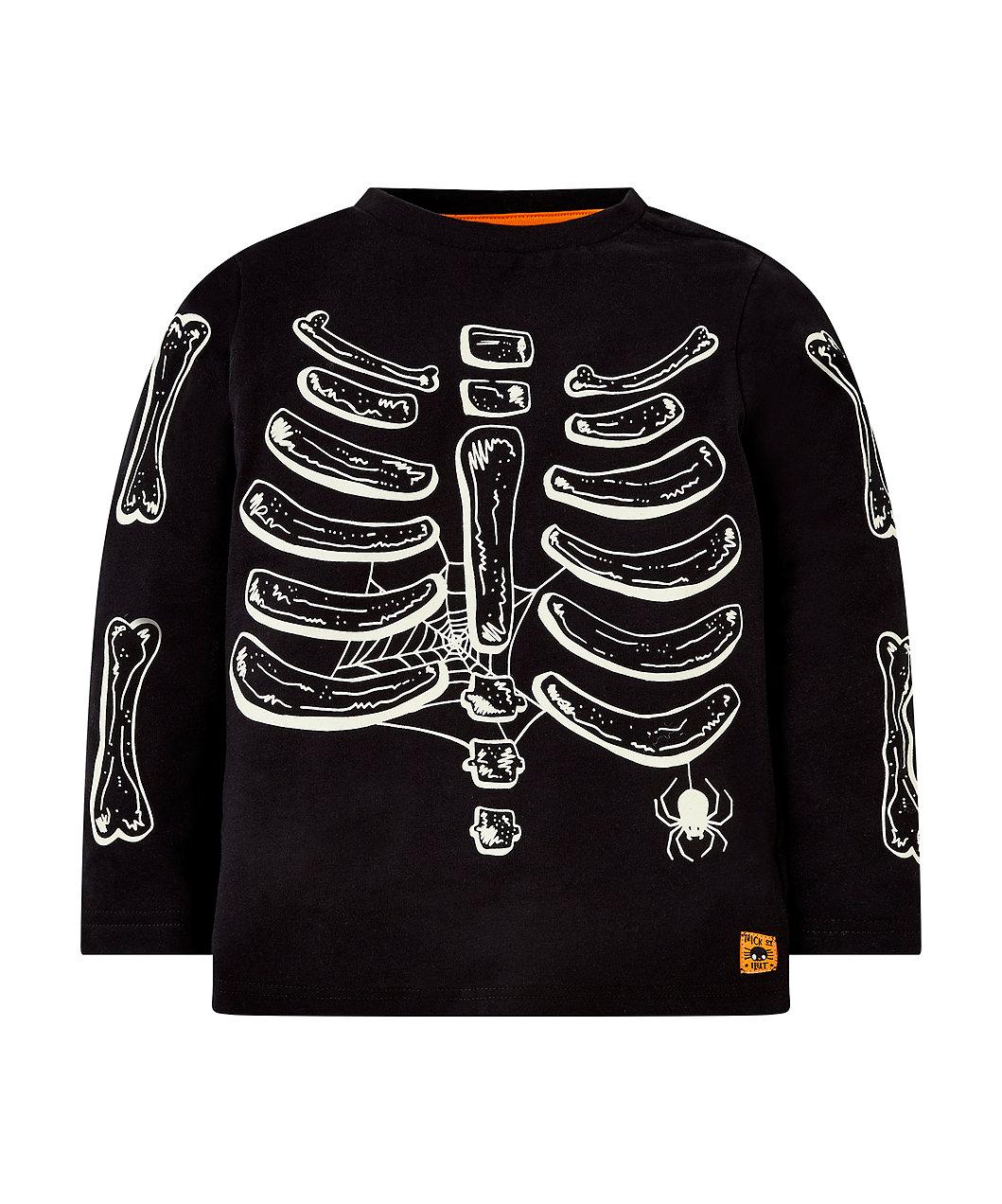 c2373d5f halloween glow-in-the-dark skeleton t-shirt