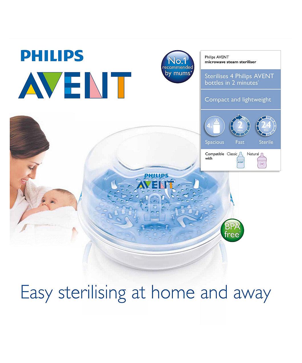 philips avent microwave steam steriliser instructions
