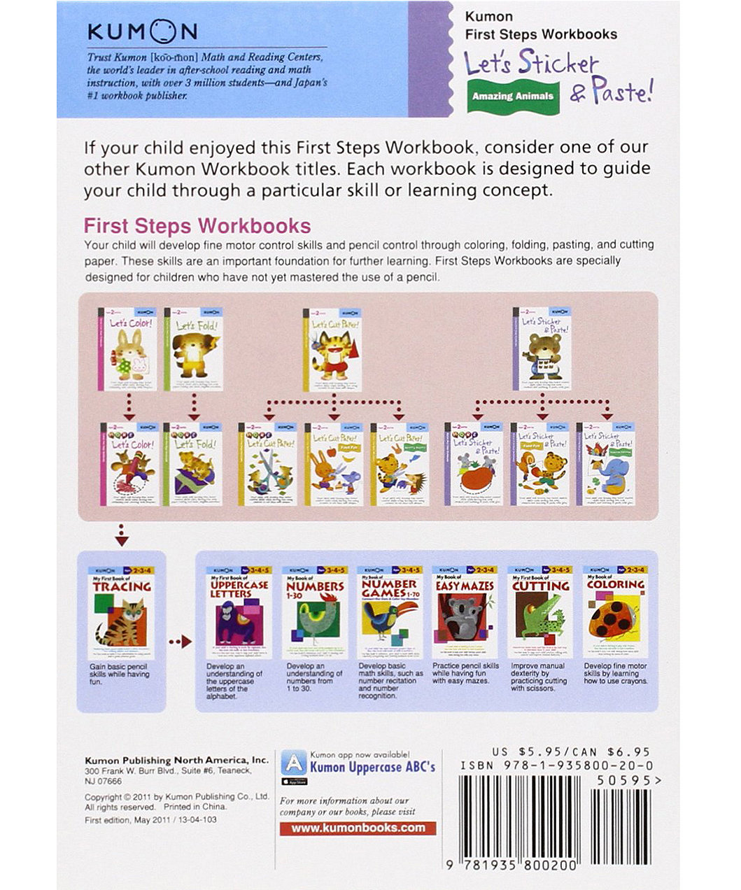 Workbooks buy kumon workbooks : Kumon Let's Sticker & Paste: Amazing Animals | ELC Indonesia