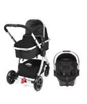 Mothercare 4-Wheel Journey Chrome Travel System - Black