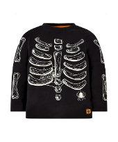 halloween glow-in-the-dark skeleton t-shirt