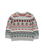 grey fair isle christmas jumper