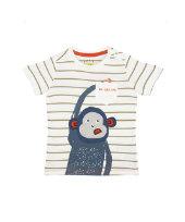 逗趣猴子短袖T恤 (9個月-5歲)