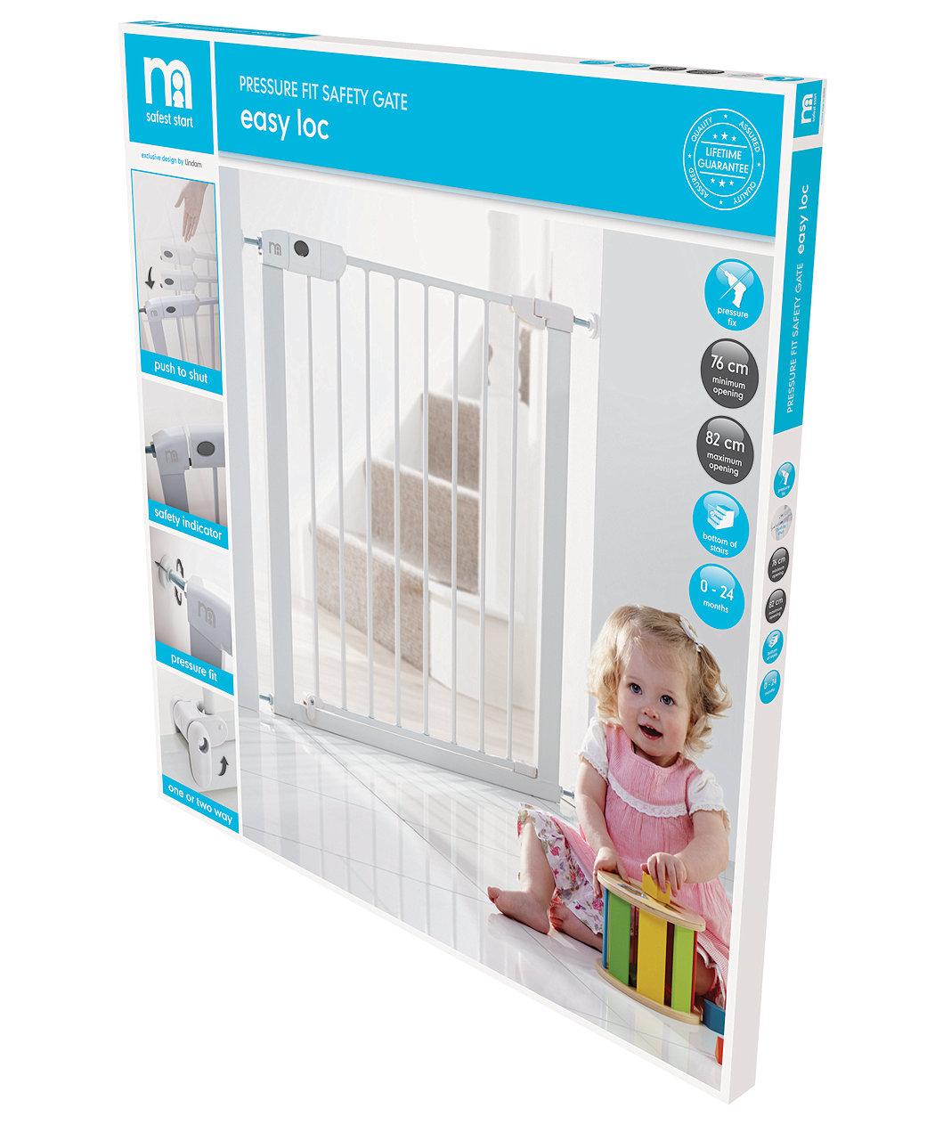 7128d3f6ac000 Mothercare Safest Start Easy Loc Pressure Fit Safety Gate