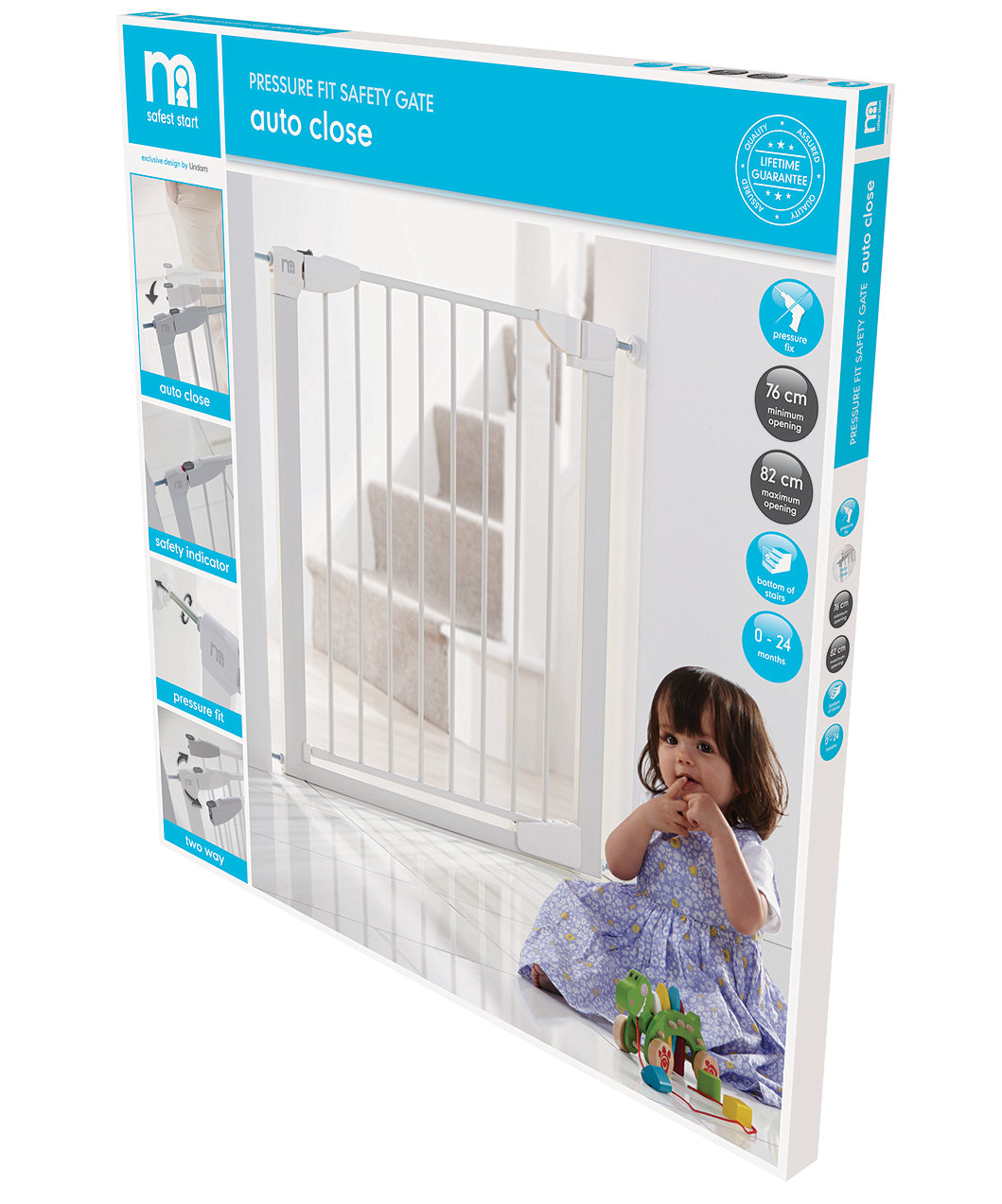 Mothercare Safest Start Auto Close Pressure Fit Safety Gate