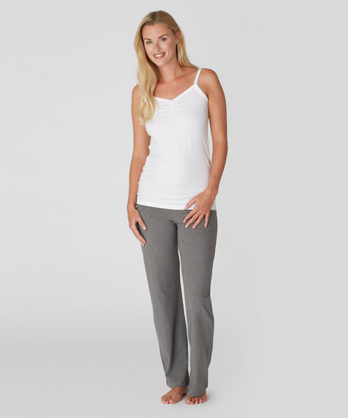 a9962c3402e2b Maternity Nursing Longline Vest – White