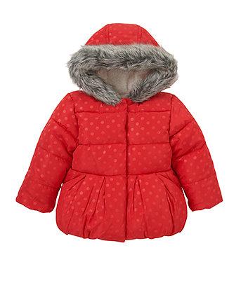 Зимова куртка у цяточку