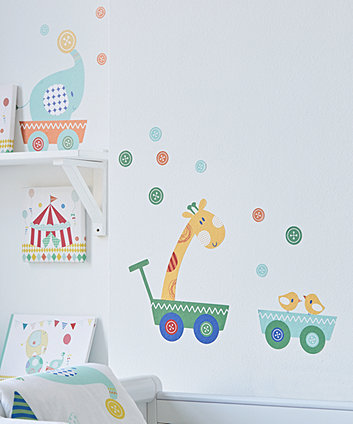 mothercare roll up roll up circus wall stickers