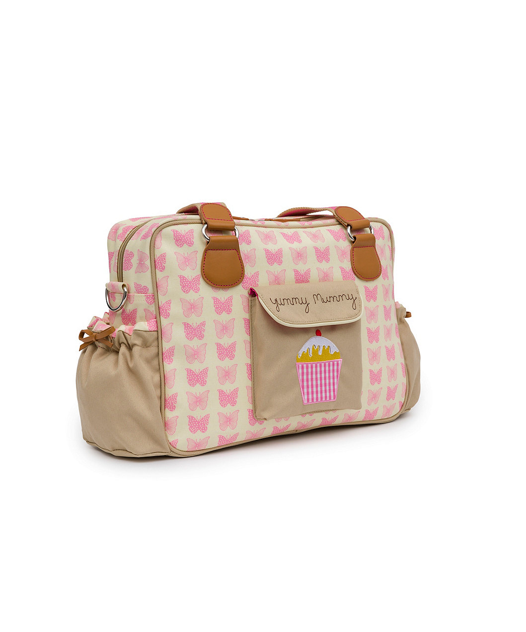 pink lining yummy mummy changing bag pink butterlies. Black Bedroom Furniture Sets. Home Design Ideas