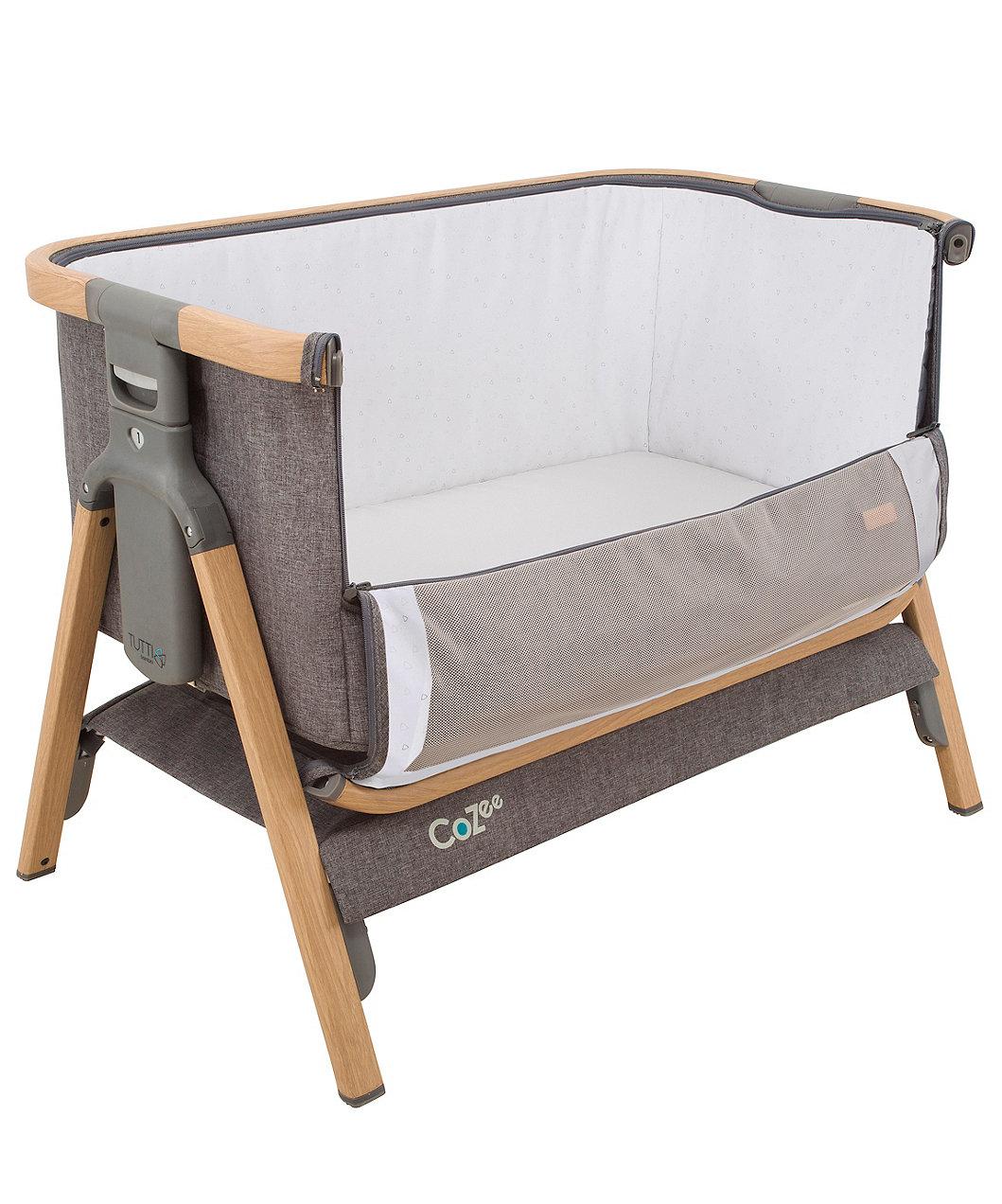 Tutti Bambini Cozee Bedside Crib Charcoal