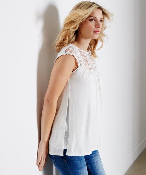 92df35b4024cf White Crochet Mix Top with Nursing Vest - 2 Piece Set