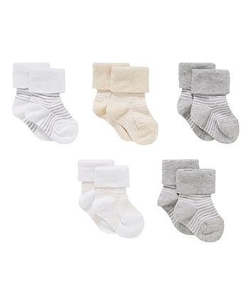 Сірі смугасті шкарпетки - 5 шт
