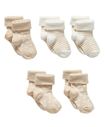 Бежеві шкарпетки - 5 пар