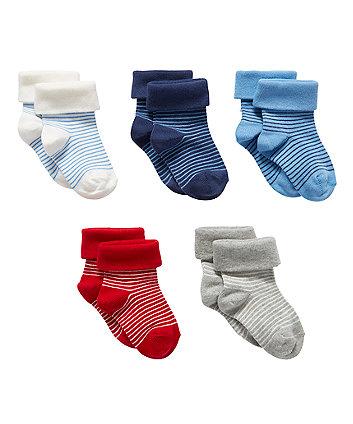 Яскраві смугасті шкарпетки - 5 пар