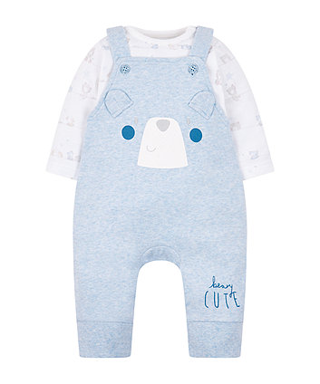 my first beary cute dungarees and bodysuit set