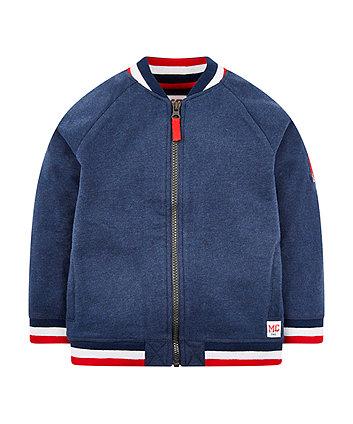 Блакитна куртка-бомпер