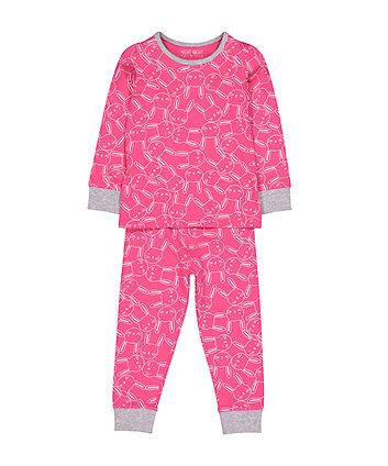 Рожева піжамка із зайченям