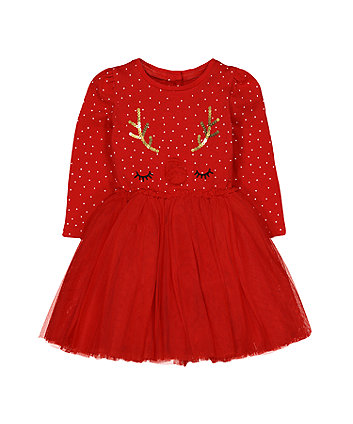 red reindeer twofer dress