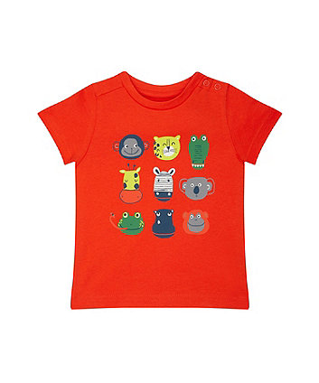 Помаранчева футболка з тваринами