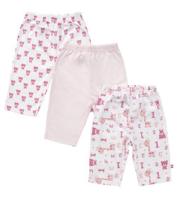 Girls layette bear legging - 3 pack