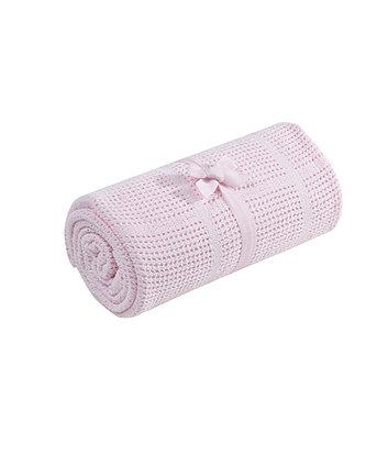 Ковдра сітчаста бавовняна 70 х 90 см - рожевий колір
